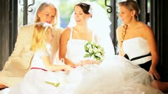 Family Portrait Wedding Bride  - stock footage