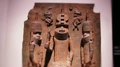 Benin bronze Stock Footage