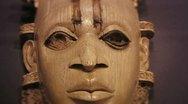 Benin grandmother mask Stock Footage
