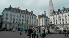 Le Place Royale - Nantes France Stock Footage