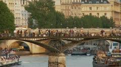 Pont des Arts – Paris France Stock Footage