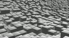 Cube landscape ink Stock Footage