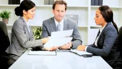 Multi Ethnic Boardroom Business Meeting Stock Footage
