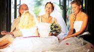Family Portrait Wedding Bride  Stock Footage