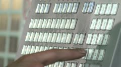 Control board in factory Stock Footage