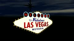 Vegas Casino - Welcome To Fabulous Las Vegas sign Stock Footage