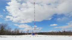 Base station of mobile cellular communication Stock Footage