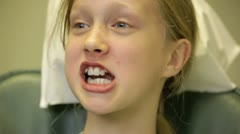 Young gril receiving a fluoride treatment. Stock Footage