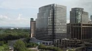 Corporate Center | office buildings | high angle Stock Footage