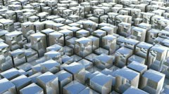 cube pan reflection - stock footage