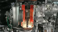 heavy truck engine detail - stock footage