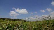 Clouds in the countryside-time laps Stock Footage