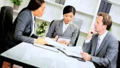 Female Asian Chinese Team Leader Success Stock Footage