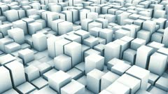 Cube track white Stock Footage