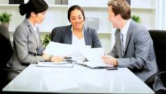 Meeting Multi Ethnic Business Team Stock Footage