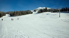 Time lapse of skiiers, mt. washington vancouver island bc canada. Stock Footage