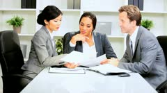 African American Businesswoman Office Team Meeting Stock Footage