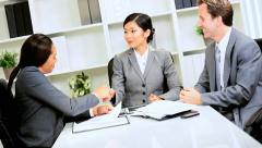 Multi Ethnic Business Team Client Meeting - stock footage