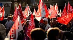 General Strike 2012 Spain - stock footage