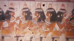 A feast for Nebamun wall painting Thebes, Egypt Stock Footage