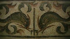 Greek mosaic greece Stock Footage