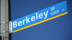 Berkeley Sign 01 HD Stock Footage