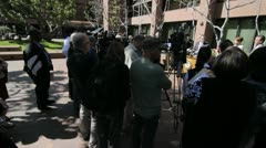 Press or news conference 3 - stock footage
