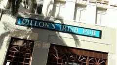 Dillon's Irish Pub 01 HD Stock Footage