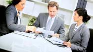 Caucasian Business Team Leader Meeting Stock Footage
