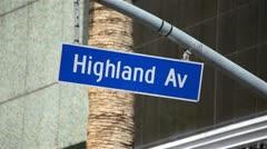 Highland Avenue 01 HD Stock Footage