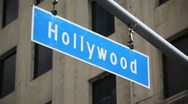 Hollywood Blvd Sign 12 HD Stock Footage