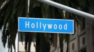 Hollywood Blvd Sign 13 HD Stock Footage