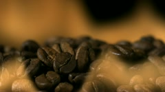 Coffee bean in fire, Slow Motion - stock footage