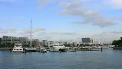 Marina & Condominium in Singapore Stock Footage