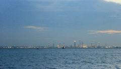 Pulau Bukom Oil Refinery Stock Footage