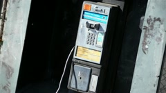 Old Pay Phone 01 HD Stock Footage