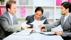 Female African American Team Leader News Success Stock Footage