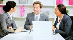 Male Caucasian Team Leader News Success Stock Footage