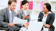 Asian Chinese Business Leader Using Smart Phone Stock Footage