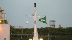 Brazilian flag on a mast Stock Footage