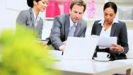 Male Caucasian Business Executive Informal Team Meeting Stock Footage