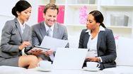 Informal Meeting Multi Ethnic Business Team Stock Footage