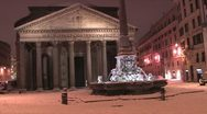 Stock Video Footage of Pantheon Snow night