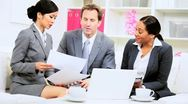 Male Caucasian Business Executive Informal Meeting Stock Footage