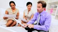 Female Ethnic Team Leader Advertising Meeting Stock Footage