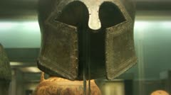 Stock Video Footage of bronze helmet of corinthian