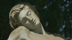 Elegant cemetery resting place (2 clips) Stock Footage