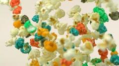 Popcorn, Slow Motion - stock footage
