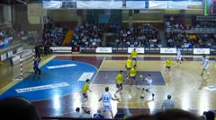 Handball match Stock Footage