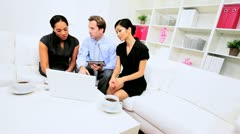 Multi Ethnic Business Colleagues Boardroom Meeting Stock Footage